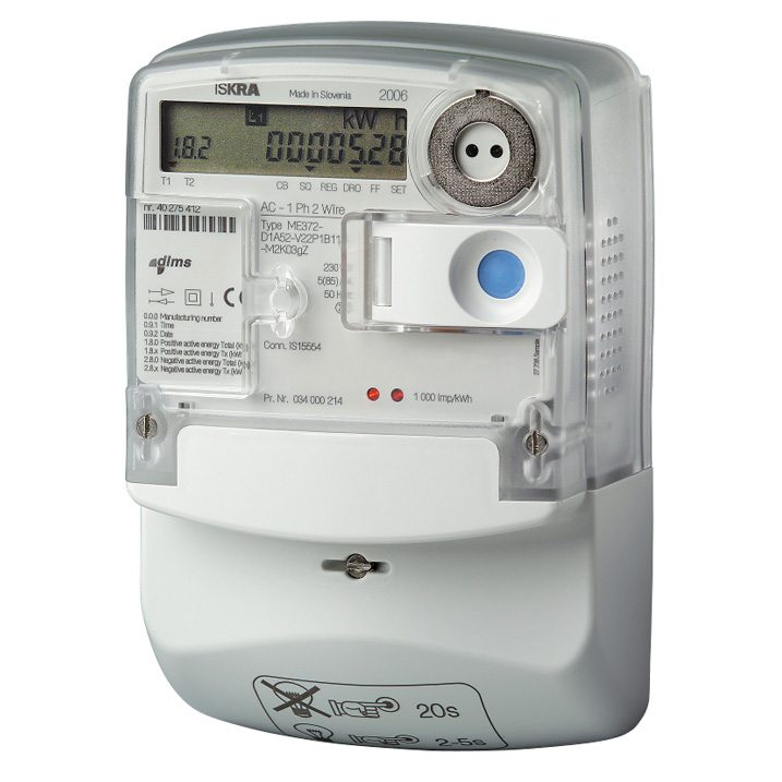 Smart Electric Meter Reading : Iskra me single phase smart electric meter with gsm