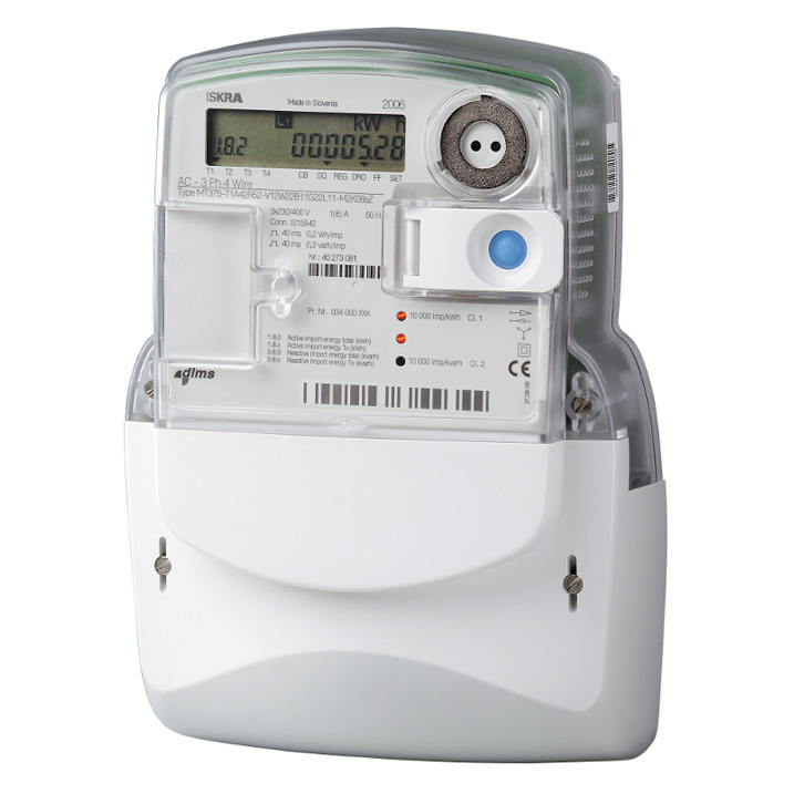 "Three Phase Electricity Meter : Iskra mt ""t three phase electric smart meter with"