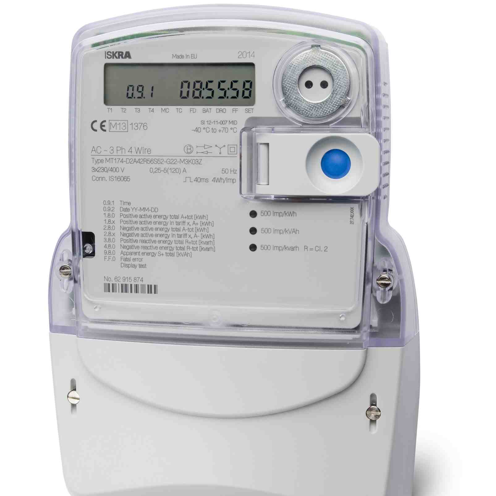 Three Phase Electricity Meter : Iskra mt three phase multifunction electronic meter